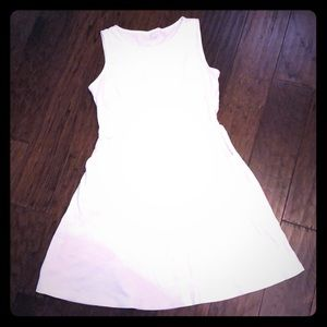 White Sleeveless Dress with Pockets!